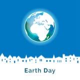 также вектор иллюстрации притяжки corel Плакат дня земли Стоковые Изображения RF