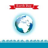 также вектор иллюстрации притяжки corel Плакат дня земли Стоковые Изображения