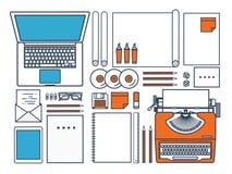 также вектор иллюстрации притяжки corel Плоская машинка Ноутбук Скажите ваш рассказ идентификации Блоги Линия искусство бесплатная иллюстрация
