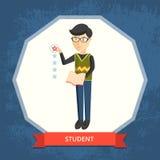 также вектор иллюстрации притяжки corel Студент Стоковая Фотография