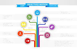 также вектор иллюстрации притяжки corel Infographics на целях движения LGBT иллюстрация вектора