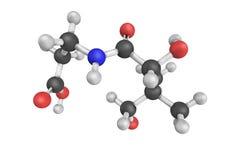 также вызванная структура 3d витамина B5, пантотеновой кислотой Стоковая Фотография RF