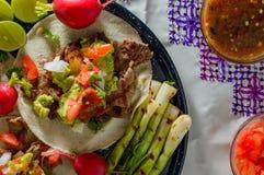 Тако Тихуана, asada carne с космосом экземпляра стоковая фотография rf