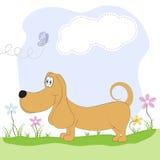 Такса и весна собаки Стоковые Изображения