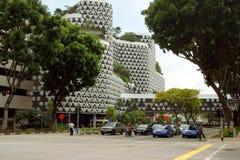 Такси вне Bugis+, Сингапур Стоковые Изображения