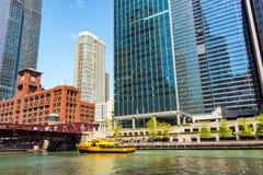 Такси воды Чикаго Стоковые Изображения RF
