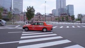 Такси в городе - ТОКИО/ЯПОНИЯ - 12-ое июня 2018 токио акции видеоматериалы