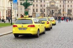 Такси в Праге Стоковая Фотография