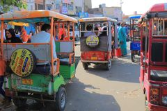 Такси Джайпур Индия мотоцилк tuk Tuk Стоковые Фото
