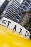 Такси желтого цвета Нью-Йорка Стоковые Фото
