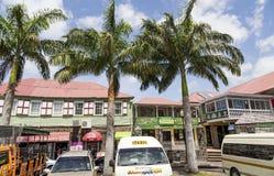 Такси и пальмы в St Китс стоковая фотография rf