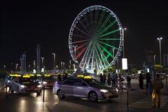 Такси на моле Марины в Абу-Даби Стоковая Фотография