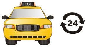 Такси работая ежедневно иллюстрация штока