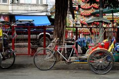 Такси Таиланд велосипеда Стоковое Фото