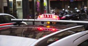 Такси Parisien Стоковое Изображение RF
