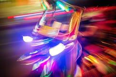 Такси tuk Tuk на ноче Тип запачканный движением искусства фото Стоковое Фото