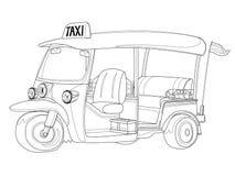 Такси TUK-TUK Таиланда в черно-белом плане Стоковые Изображения RF