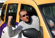 таксомотор водителя Стоковая Фотография RF