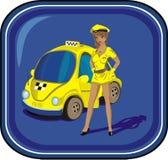 таксомотор водителя Стоковое Изображение RF