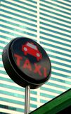 таксомотор знака стоковая фотография rf