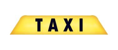 таксомотор знака Стоковое Фото