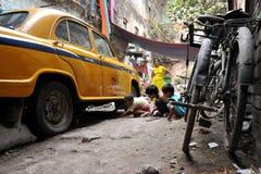 таксомотор мальчиков bike Стоковое Изображение RF