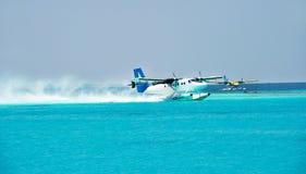 таксомотор моря плоскости воздуха стоковая фотография