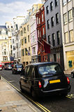 таксомотор улицы покупкы london Стоковое Изображение RF