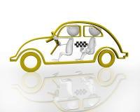 таксомотор 3d Стоковые Изображения