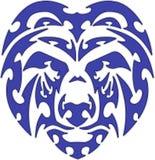 талисмана логоса медведя вектор головного соплеменный Стоковая Фотография