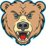 талисман логоса медведя иллюстрация вектора