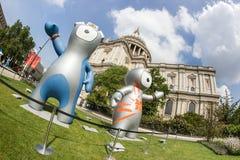 Талисман Олимпиад Лондон 2012 Стоковые Изображения RF
