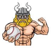 Талисман спорт бейсбола Викинга иллюстрация штока