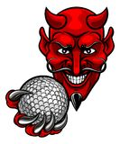 Талисман спорт гольфа дьявола иллюстрация штока