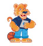 Талисман тигра школы иллюстрация штока