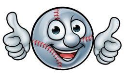 Талисман шарика бейсбола Стоковое Изображение