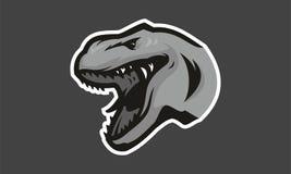 Талисман esport логотипа головы t-rex Dinosaurus Стоковое Изображение RF
