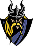 талисман viking логоса варвара иллюстрация вектора
