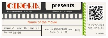 Талон фильма билета кино допускает что доступ развлечений фильм допускает картон иллюстрация штока