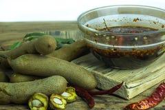 Тамаринд с сладостным соусом рыб Стоковое Изображение