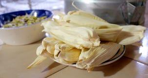 Тамале, мексиканская еда на день Candlemas Стоковые Фото