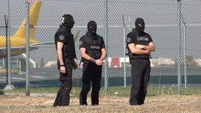 Таможни и офицеры 4k предохранения от границы видеоматериал