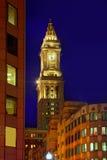 Таможня Массачусетс башни с часами Бостона стоковые фотографии rf