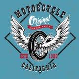 Таможня мотоцикла разделяет эмблему бесплатная иллюстрация