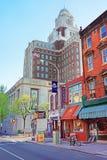 Таможня Соединенных Штатов осмотренная от 2-ой улицы Philadelphi стоковые изображения rf