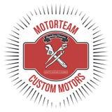 Таможня Motorteam едет на автомобиле вектор графика футболки иллюстрация вектора