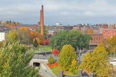 Тампере, Финляндия. Взгляд сверху города стоковое изображение rf