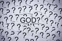 Там бог? стоковые фото