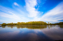 Там где небо касается воде Стоковое Изображение RF