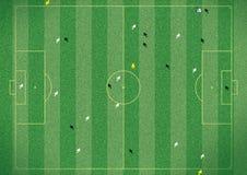 Тангаж футбола стоковые изображения